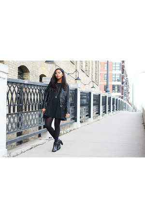 black leather boots Topshop boots - black black dress brandy melville dress