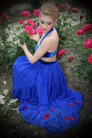 blue seniorita dress