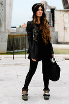 Manoush jacket - loewe bag - Urban Outfitters pants