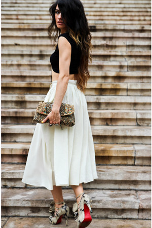 H&amp;M skirt - asos top - Christian Louboutin heels