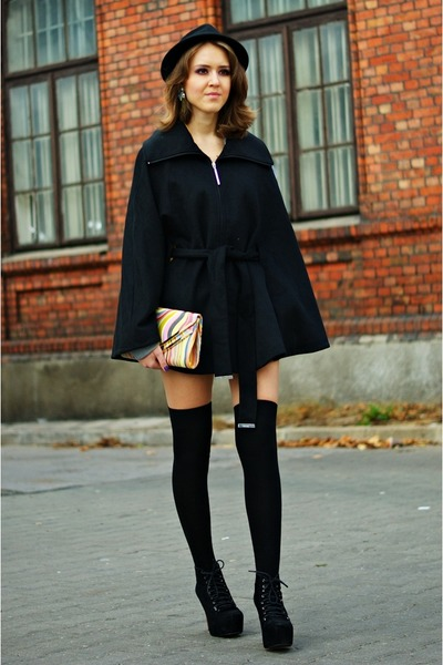 black calvin klein coat