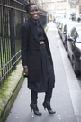 Ankle-booties-zara-boots-black-caftan-h-m-dress-black-wool-zara-coat-black