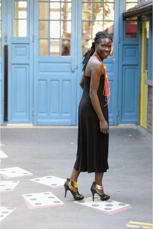 Devani heels - worn as dress Zara skirt - asos earrings