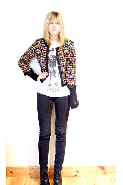 Cheap Monday jeans - H&M jacket - Din Sko shoes