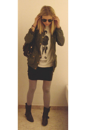 H&M jacket - Marc by Marc Jacobs t-shirt - American Apparel skirt - my own desig