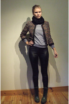 Bik Bok pants - H&M jacket - H&M scarf - H&M shoes - Bik Bok sweater