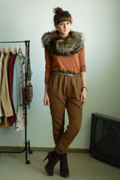 bronze Zara pants