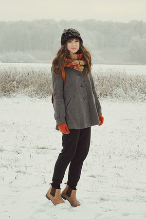 heather gray H&amp;M coat