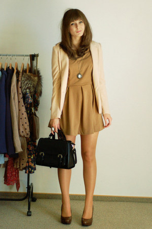 Zara dress - Romwecom dress - H&amp;M blazer - Romwecom necklace