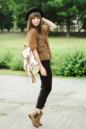 bronze pull&amp;bear blouse - tawny La Redoute boots