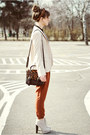 Eggshell-deezee-boots-dark-brown-romwe-bag