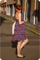 magenta floral 3Suisses dress - red heart Ebay sunglasses