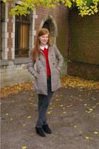 Zara jumper - Zara boots - H&M coat