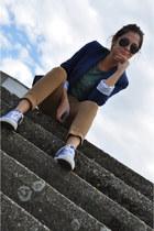 Zara blazer - Zara pants - Converse sneakers