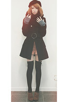 Jane Norman coat - H&M shorts