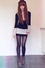 Dark-brown-boots-silver-sweater-black-sweater