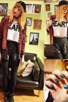 brick red sequin blazer