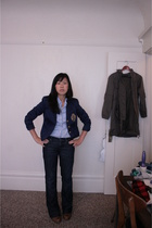 Ralph Lauren blazer - Gap blouse - Seven For All Mankind jeans - Fly London shoe