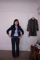 Ralph Lauren blazer - Gap blouse - Seven For All Mankind jeans - Fly London shoe