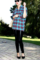 Secondhand shirt - Only leggings - vagabond shoes - Bag purse - Ray Ban sunglass