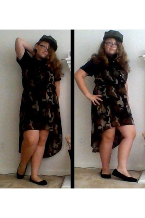 dark green military no brand hat - forest green camo Indulgence dress