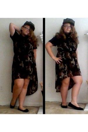 dark green military no brand hat - forest green camo Indulgence dress