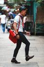 Florsheim-shoes-h-m-jeans-stussy-hat-nano-universe-shirt-vintage-scarf
