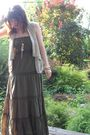 Green-charlotte-russe-dress-beige-forever-21-vest-gold-forever-21-necklace-