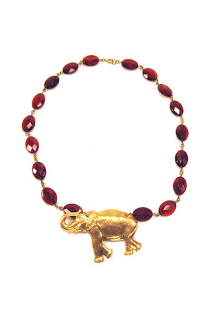 elephant red Manic Trout necklace