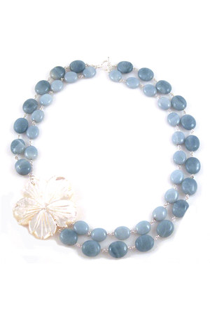shell flower Manic Trout necklace