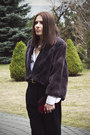 Black-zara-boots-deep-purple-fur-diy-jacket-white-cotton-only-shirt