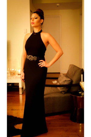 black Ralph Lauren dress - black BCBG belt