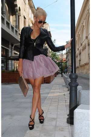 pink Cozbest skirt - black Cozbest jacket