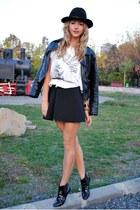 black Zara boots - black OASAP jacket