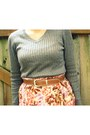 Brown-thrifted-belt-heather-gray-target-sweater-purple-target-tights