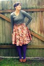 Heather-gray-target-sweater-purple-target-tights-brown-thrifted-belt