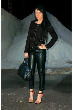 H&M pants - New Yorker jacket - vintage bag - Zara heels