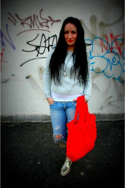 marcelajezkova bag - vintage jeans - H&M sweater - Zara sneakers