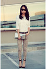 Silver-purse-black-day-2-jeffrey-campbell-sandals-cream-asos-blouse
