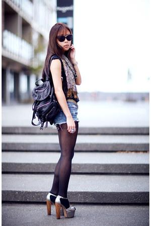 black Topshop bag - silver dany Jessica Simpson heels