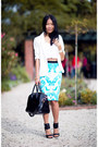 Black-bag-black-sunglasses-aquamarine-new-look-skirt