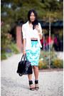 Black-bag-black-sunglasses-aquamarine-new-look-skirt