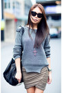Black-zara-heels-charcoal-gray-jumper