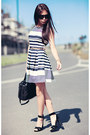 White-newlook-dress-black-alexander-wang-bag
