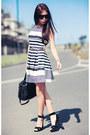 White-newlook-dress-black-alexander-wang-bag