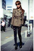 black Black Milk leggings - beige modcloth jacket