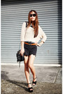 Black-asos-shorts-beige-dotti-jumper