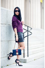 Deep-purple-new-look-sweater-navy-bag-black-alexander-wang-heels
