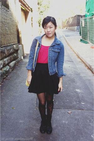 black boots Roc Boots boots - sky blue jacket La Petite Mademoiselle jacket