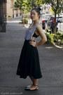 White-top-sass-top-black-skirt-boohoo-skirt-black-flats-asos-flats